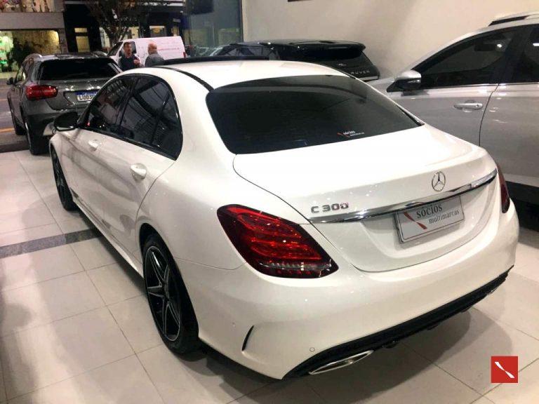 Mercedes C300 2018/2018 GASOLINA BRANCA 5600Km