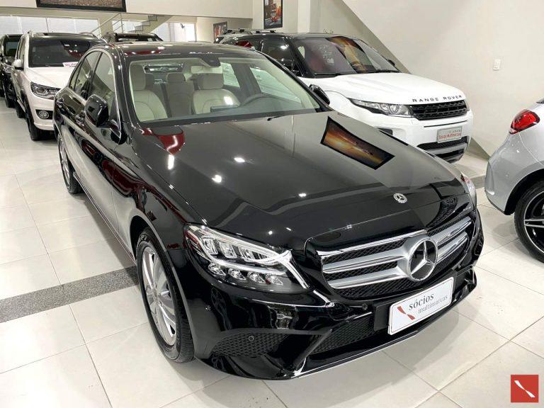 Mercedes C180  2019/2019  FLEX  PRETO